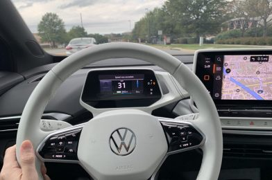 45 minutes on the street in a prototype Volkswagen ID.Four electrical automobile