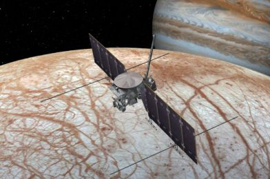 Europa most likely glows at midnight, and that will inform us what's in it